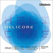 DAddario Helicore Cello Single D String 4/4 Scale Medium Tension