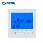 Termostat WiFi pentru centrala termica pe gaz si incalzire in pardoseala BeOk BOT-313WiFi, albastru