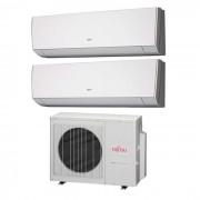 Fujitsu Condizionatore Dual Split Lm 7000+7000 7+7 Btu Inverter Aoyg18lat3 A++