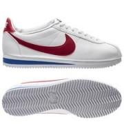 Nike Classic Cortez Leer - Wit/Rood/Blauw Vrouwen