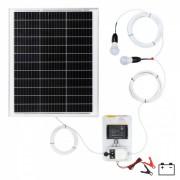 Sistem de iluminat solar 50 W cu 2 becuri