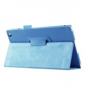 Shop4 - Lenovo Tab 3 8 Hoes - Book Cover Lychee Licht Blauw