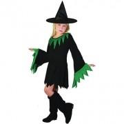 Costum halloween fete vrajitoare verde