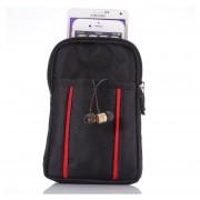 Universal Multifuctional 6,3 Pulgadas De Doble Enrejado Dos Paquetes De Almacenamiento De Material Poliéster De Color Perla Cintura Cintura / Bolsa / Bolsa / Senderismo Camping Bolsa Para IPhone 6 Plus Y 6s Plus, Samsung Galaxy Note 5 / N920 Y S6 EDG
