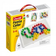 Quercetti FantaColor - Joc mozaic portabil, 60 piese
