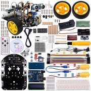 Longruner Arduino Project Smart Robot Car Kit with Two-wheel Drives Intelligent Robotics DS Educational Car for Teens and Adults