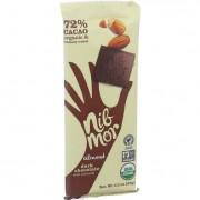 NibMor Organic Dark Chocolate Bars - Almond - 2.2 oz Bars - Case of 12