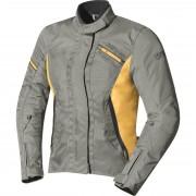 IXS Motorradjacke, Motorradschutzjacke IXS Alana Damen Textiljacke hellgrau/okker M grau