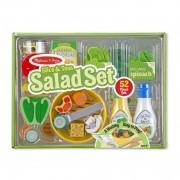 Set de joaca din lemn Salate delicioase Melissa and Doug, 52 piese