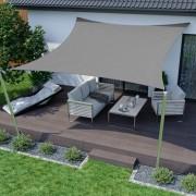 Jarolift Żagiel przeciwsłoneczny, kwadratowy, z tkaniny wodoodpornej, antracytowy, 500x500 cm