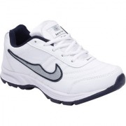 Look Hook Aerofax Men White Lace-up Running Shoes