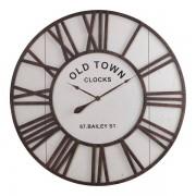 Oak Furnitureland Clocks - Dayton Wall Clock - Oak Furnitureland