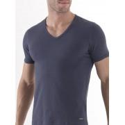 BlackSpade Эластичная мужская футболка серого цвета BlackSpade TENDER COTTON b9239 серый
