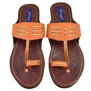 Tamanna Kolhapuri Orange Color Chappal For Women, chappals for girls, girls chappals, chappals for women, women chappals, women footwear, juti for girls,footwear for women, chappals for women, casual chappals, chappals for girls, women's chappals, girl ch