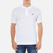 Lacoste Men's Basic Pique Short Sleeve Polo Shirt - White - 5/L - White