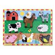 Melissa & Doug Farm Chunky Puzzle,Multicolor