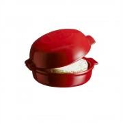 Керамична форма за печене EMILE HENRY CHEESE BAKER с капак - Ø19.5 см - цвят червен