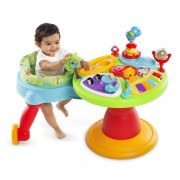 Bright Starts-60368 Centru de activitati 3-in-1 Around We Go Zippity Zoo