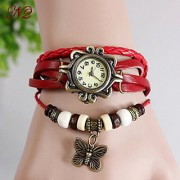 TRUE CHOICE Casual Analog watche for girls red colour