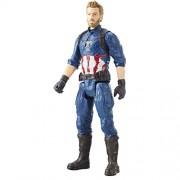 Marvel Infinity War Titan Hero Series - Captain America with Titan Hero Power FX Port (Multi Color)