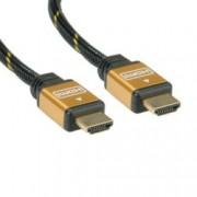 Кабел Roline, HDMI(м) към HDMI(м), 10m, черен, позлатени конектори