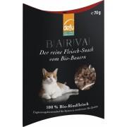 Gustari Bio din carne de vita pentru pisici, 70g, Defu