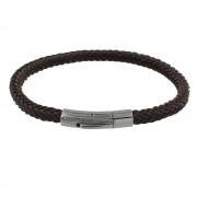 Les Poulettes Bijoux Bracelet Homme Tresse en Coton Carré Simple