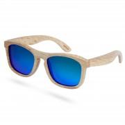 Paul Riley Blau Polarisierte Holz Sonnenbrille