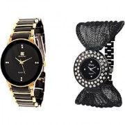 TRUE CHOICE NEW IIK Collection Golden-Black and Fency Black Dimond Zulla Watches For Men and Women
