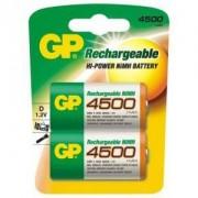 Акумулаторна Батерия R20 D 4500mAh NiMH 2 бр. в опаковка GP - GP-BR-R20-4500mA