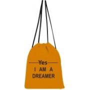 shree saavi Yes I'm a dreamer Drawstring bag 5 L Backpack(Yellow)