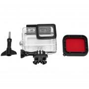 EW Carcasa impermeable con carcasa de Buceo Filtro para cámara GoPro Hero 5