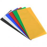 6 PCS PULUZ Collapsible Photography Studio Background 6 Colors (Black White Red Blue Orange Green) Size: 80cm x 40cm