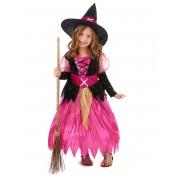Vegaoo.es Disfraz de bruja rosa para niña - S 4-6 años (110-120 cm)