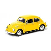 RMZ City - Volkswagen Beetle Diecast Scaled Model (Yellow) - Classic Edition