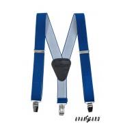 Chlapecké šle s koženým středem a na klipy, Královská modrá Avantgard 862-73523-120