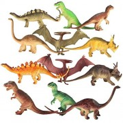"""7"""" - 8"""" Dinosaur Toy for Kids (Pack of 12). Realistic Looking Educational Dinosaur Toy Action Figures for Boys Girls Children 