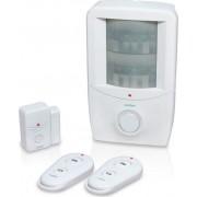 avidsen 100111 Antifurto Casa Perimetrale Wireless Senza Fili Kit: Sensore Infrarossi + Sensore Per Porte E Finestre + Allarme Sirena + Pstn - 100111