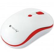 Mouse Wireless 2.4GHz 800-1600 dpi Bianco/Rosso