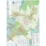 Harta Municipiului Suceava SV (print digital) - sipci de lemn