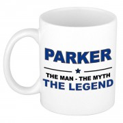 Bellatio Decorations Parker The man, The myth the legend cadeau koffie mok / thee beker 300 ml