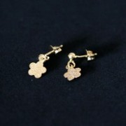 Semi Earring Jewelry Gold Plated Flower