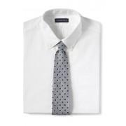 ランズエンド LANDS' END メンズ・リネン・フラール・プリント・タイ/ネクタイ(ステープルグレー/インディゴスレート)