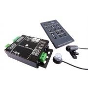 LED szalag infra vezérlő XS-Pro egyszínű szalagokhoz távirányítóval és külső mikrofonnal