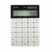 Calculator de birou modern 12 digiti Deli 1589 alb