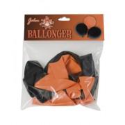 Hisab joker Halloween ballonger 10-pack 31cm svart/orange