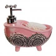 Dispenser roz din ceramica cu burete
