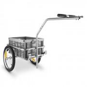 DURAMAXX Bigbig Box Remolque para bicicletas Carretilla 40l 40kg gris (BCT1-Bigbig-Box)