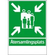 """Nöd- och utrymningsskylt """"Återsamlingsplats"""""""