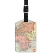 Nutcaseshop Vintage Map Luggage Tag(Multicolor)